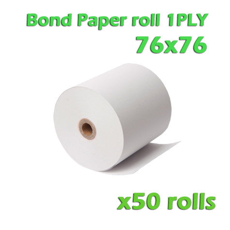 Bond Paper Roll 1Ply - 76 x 76mm - Box of 50 - ONLINEPOS