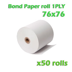 Bond Paper Roll 1Ply - 76 x 76mm - Box of 50