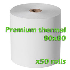 Premium Thermal Rolls - 80 x 80mm - Box of 50