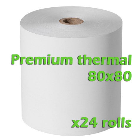 Premium Thermal Rolls - 80 x 80mm - Box of 24 - ONLINEPOS