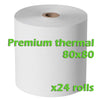 Premium Thermal Rolls - 80 x 80mm - Box of 24