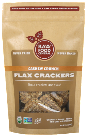 Cashew Crunch Flax Crackers