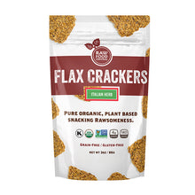 Load image into Gallery viewer, Flax Crackers Italian Herb