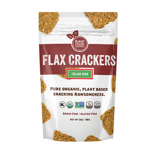 New Flax Crackers Italian Herb