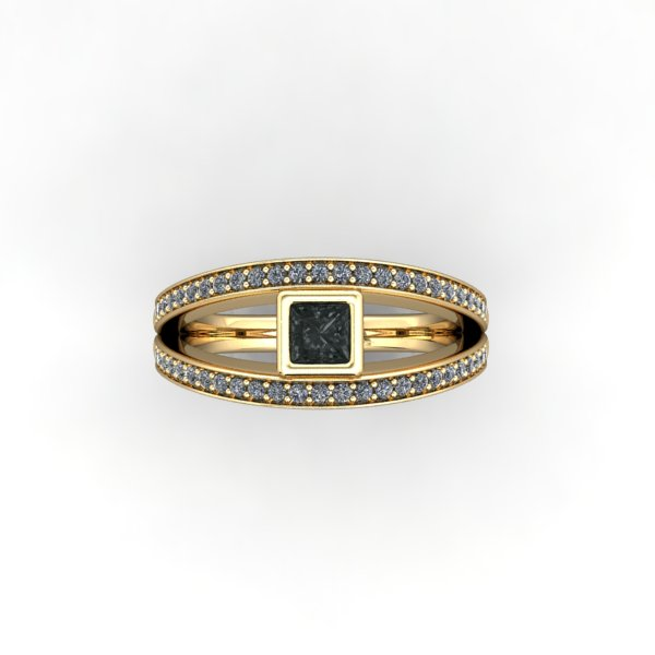 Black and White Diamond Ring - eklektic jewelry studio