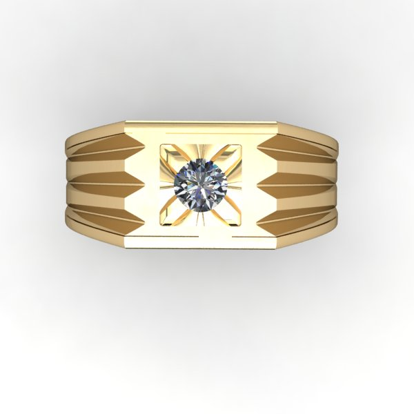 Diamond Signet Ring - eklektic jewelry studio