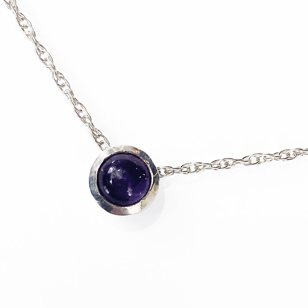 Solitaire Amethyst Necklace - eklektic jewelry studio