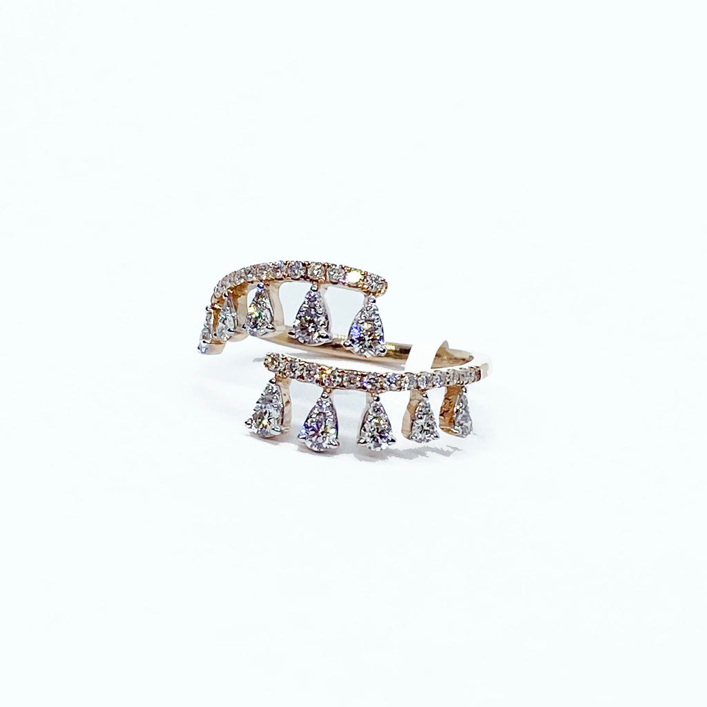 14kr Diamond Open Crown Ring - eklektic jewelry studio