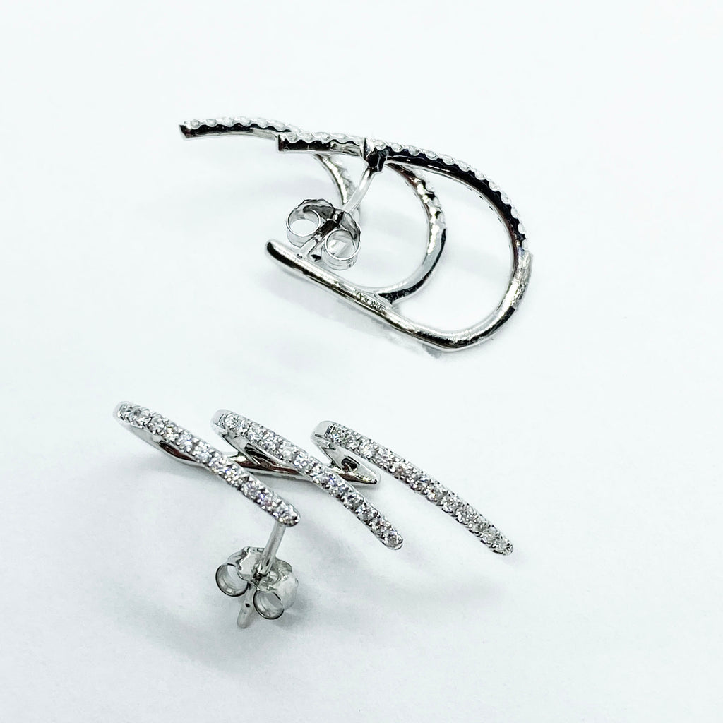 14kw diamond wrap earrings - eklektic jewelry studio