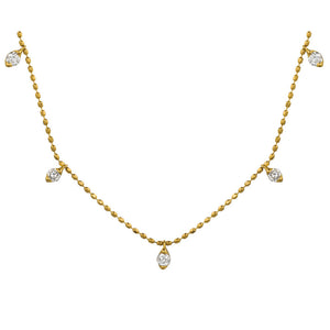 14ky Diamond Dangles Necklace - eklektic jewelry studio