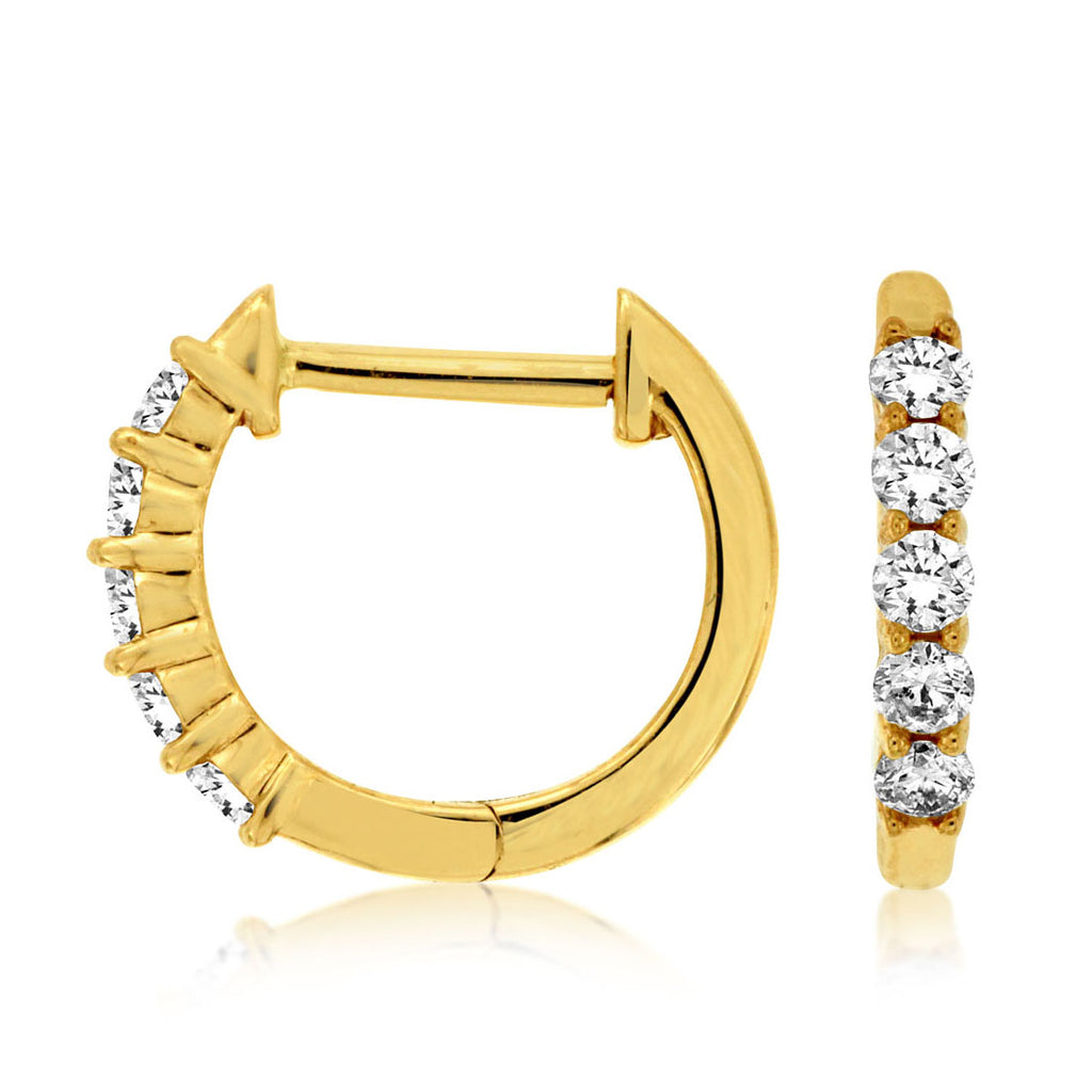 14ky Diamond Hoop Earrings - eklektic jewelry studio