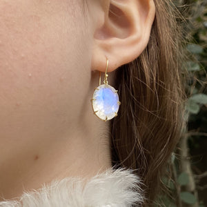18ky Faceted Moonstone Earrings by Amelia Perry - eklektic jewelry studio