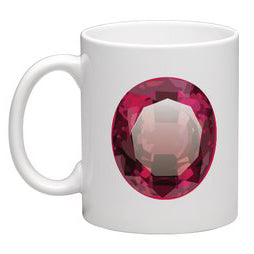 Coffee Mug - Red Gem - eklektic jewelry studio