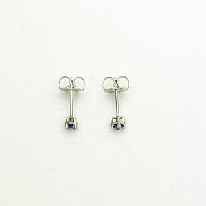 14kw Ceylan Blue Sapphire Stud Earrings - eklektic jewelry studio