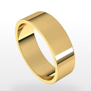 14ky Flat Band - eklektic jewelry studio