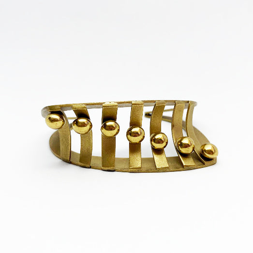 Brass Cuff Bracelet by Jane Bocchini - eklektic jewelry studio