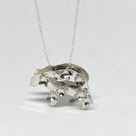 Silver Polar Bear Pendant with silver chain by Jane Bocchini - eklektic jewelry studio