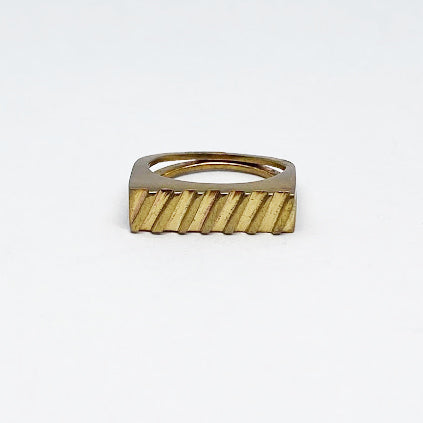 Brass stackable rings by Jane Bocchini - eklektic jewelry studio