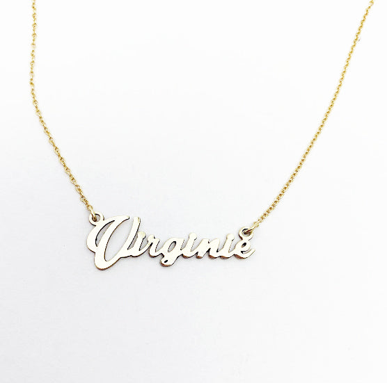 14ky Name Necklace - eklektic jewelry studio