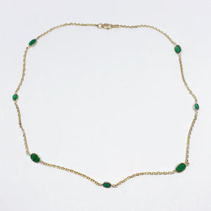14ky Emerald Chain Necklace - eklektic jewelry studio