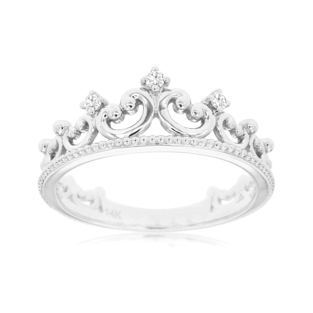 14kw Diamond Crown Ring - eklektic jewelry studio