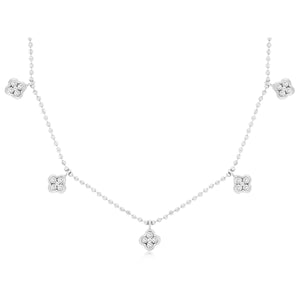 14kw Diamond Clovers Necklace - eklektic jewelry studio