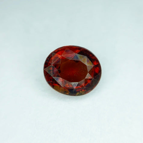 Grossularite Hessonite Garnet - Oval Faceted - eklektic jewelry studio