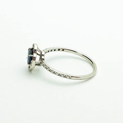 14kw Sapphire and Diamond Ring - eklektic jewelry studio