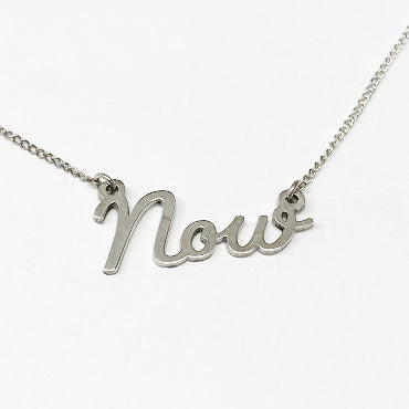 "Silver ""Now"" Necklace - eklektic jewelry studio"