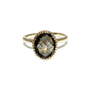 14ky Smoky Quartz Ring - eklektic jewelry studio