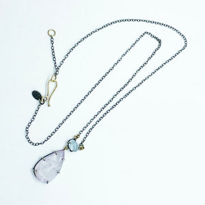 Kunzite and Aquamarine Necklace by Amelia Perry - eklektic jewelry studio