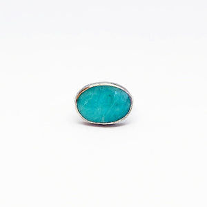 Silver Amazonite Ring by Amelia Perry - eklektic jewelry studio