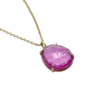 14ky Pink Tourmaline Necklace by Amelia Perry - eklektic jewelry studio