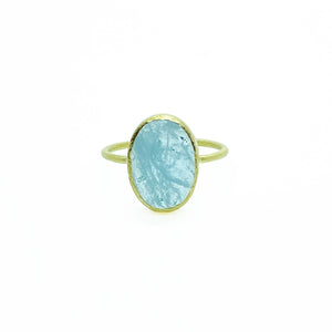 18ky Aquamarine Ring by Amelia Perry - eklektic jewelry studio