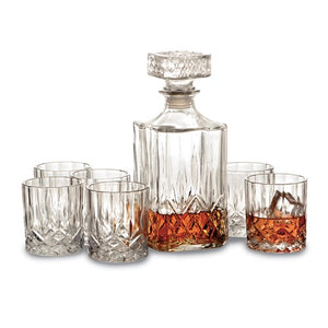 7 Piece Crystal Whiskey Set - eklektic jewelry studio