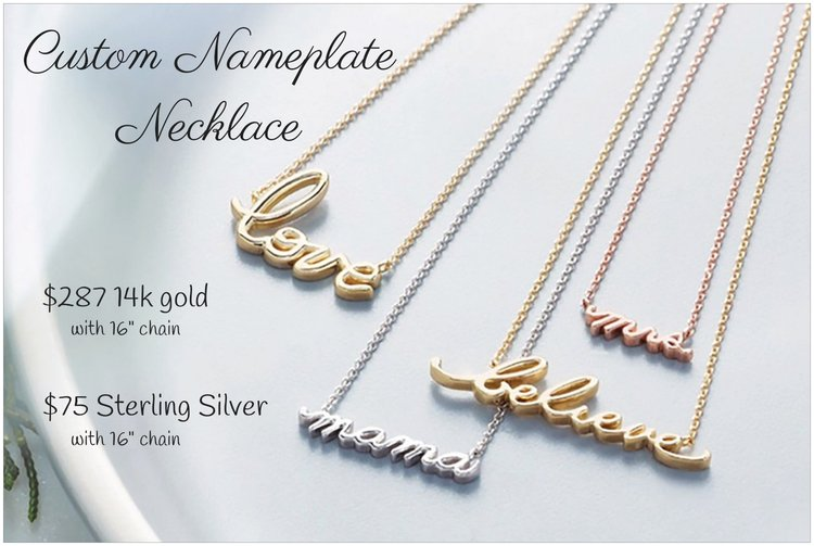 Name Necklace - eklektic jewelry studio