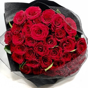 The Red Rose Bouquet is the perfect bouquet full of Red Roses for all occasions, Birthday, Happy Birthday, Anniversary, Sympathy, New baby, Thank-you, Welcome Home, All the Best and can be delivered to any Melbourne Suburbs, Melbourne City, Bayside suburbs and Port Melbourne