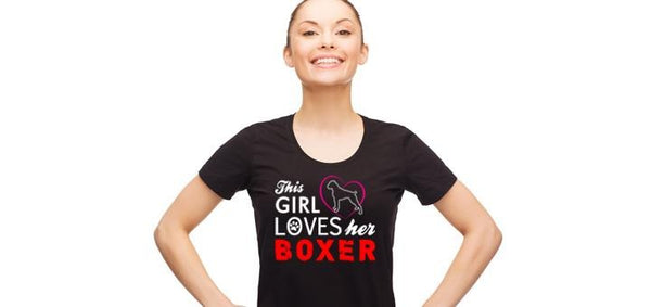 This girl loves her boxer - Ultra Fast Tshirts and more