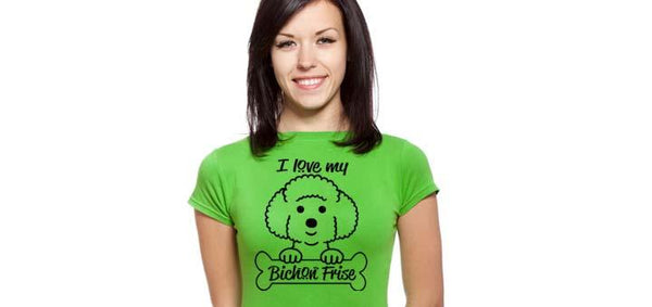 I Love my Bichon Frise - Ultra Fast Tshirts and more