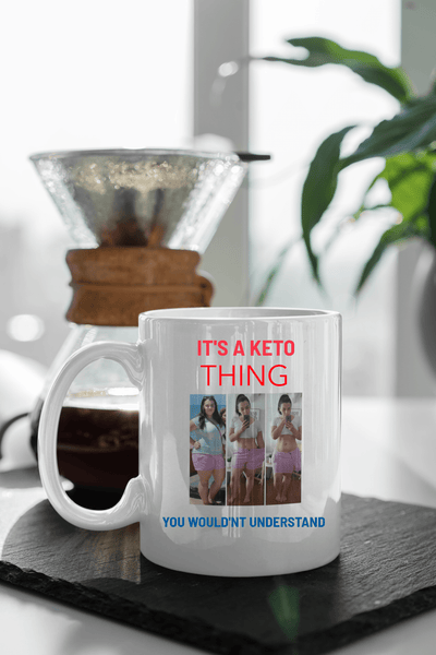 Custom KETO MUG with  YOUR picture - Ultra Fast Tshirts and more