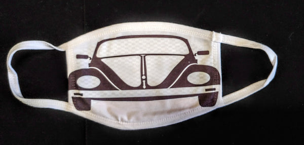 VW Bug Fashion Face Mask - Ultra Fast Tshirts and more
