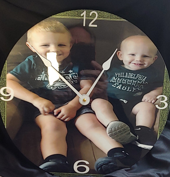 Custom photo clock - Ultra Fast Tshirts and more