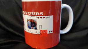 Buy 1get 1 Free Custom valentines mug with 3 of your pictures and your names