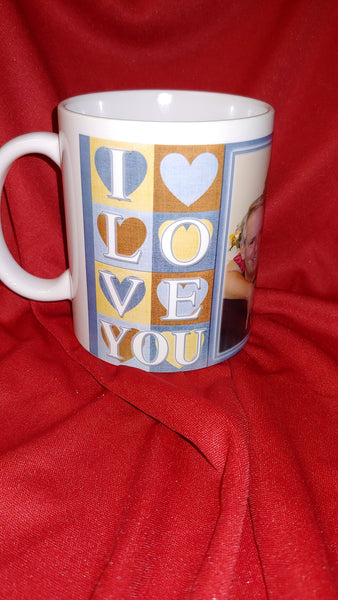 Ceramic CUSTOM  LOVE Mug - Ultra Fast Tshirts and more