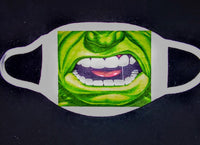 Incredible Hulk Custom Printed Face Masks - Ultra Fast Tshirts and more