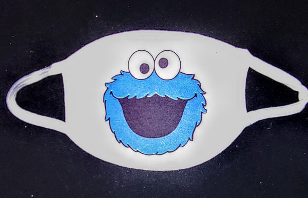 Cookie Monster Custom Printed Face Masks - Ultra Fast Tshirts and more