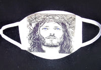 Jesus Custom Printed Face Masks - Ultra Fast Tshirts and more