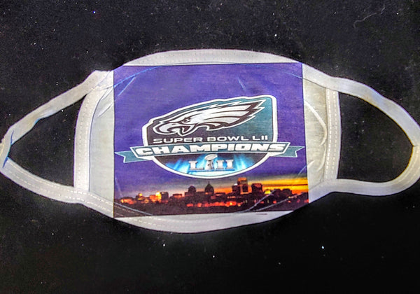 Eagles Superbowl Cha,ps Custom Printed Face Masks - Ultra Fast Tshirts and more