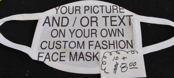 Customized Fashion Face Mask - Ultra Fast Tshirts and more