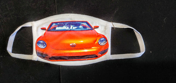 VW Beetle Bug Fashion Face Mask - Ultra Fast Tshirts and more